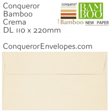 Bamboo Crema DL-110x220mm Envelopes