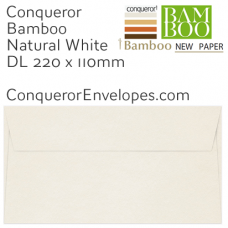 Bamboo Natural White DL-110x220mm Pocket Envelopes