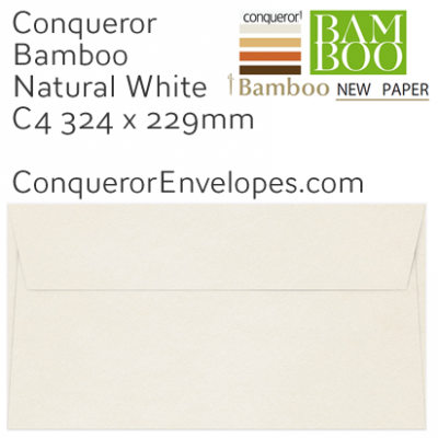Bamboo Natural White C4-324x229mm Envelopes