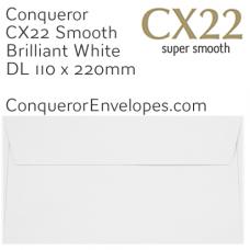 CX22 Brilliant White DL-110x220mm Envelopes