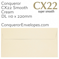CX22 Cream DL-110x220mm Envelopes