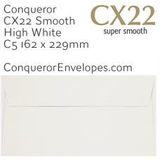 CX22 High White C5-162x229mm Envelopes