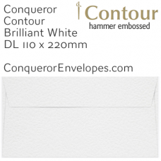 Contour Brilliant White DL-110x220mm Envelopes