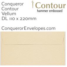 Contour Vellum DL-110x220mm Envelopes