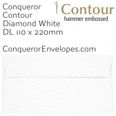 Contour Diamond White DL-110x220mm Envelopes