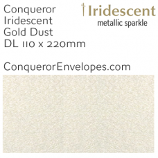 Iridescent Gold Dust DL-110x220mm Envelopes