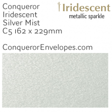 Iridescent Silver Mist C5-162x229mm Envelopes