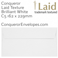 Laid Brilliant White C5-162x229mm Envelopes