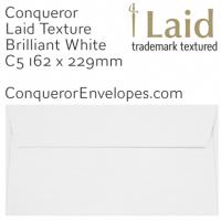 Laid Brilliant White C5-162x229mm Envelopes