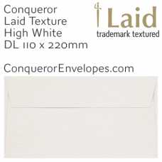 Laid High White DL-110x220mm Envelopes