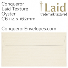 Laid Oyster C6-114x162mm Envelopes