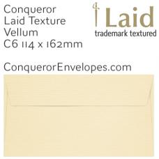 Laid Vellum C6-114x162mm Envelopes