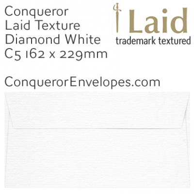 Laid Diamond White C5-162x229mm Envelopes