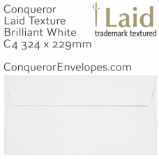 Laid Brilliant White C4-324x229mm Envelopes