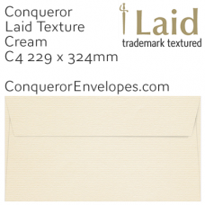 Laid Cream C4-324x229mm Pocket Envelopes