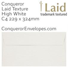Laid High White C4-324x229mm Pocket Envelopes