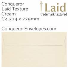 Laid Cream C4-324x229mm Envelopes