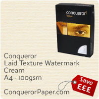 Laid Cream A4-210x297mm 100gsm Paper