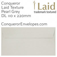 Laid Pearl Grey DL-110x220mm Envelopes
