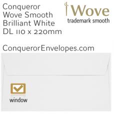 Wove Brilliant White Window DL-110x220mm Envelopes