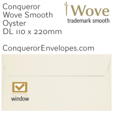 Wove Oyster DL-110x220mm Window Envelopes