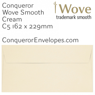 Wove Cream C5-162x229mm Envelopes