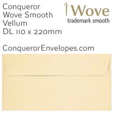 Wove Vellum DL-110x220mm Envelopes