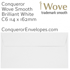 Wove Brilliant White C6-114x162mm Envelopes
