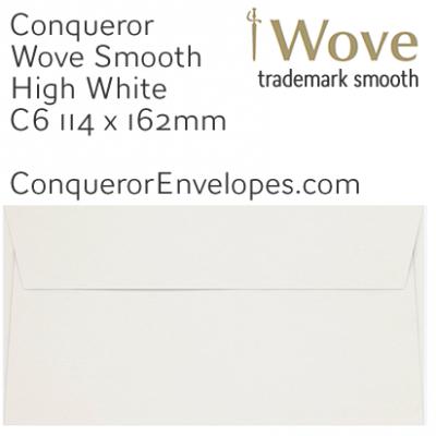 Wove High White C6-114x162mm Envelopes