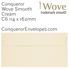 Wove Cream C6-114x162mm Envelopes