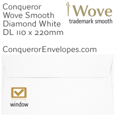 Wove Diamond White Window DL-110x220mm Envelopes