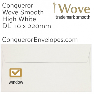 Wove High White DL-110x220mm Window Envelopes