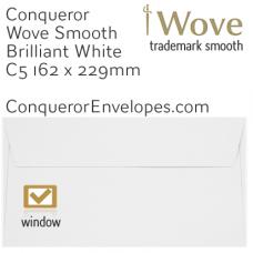 Wove Brilliant White Window C5-162x229mm Envelopes