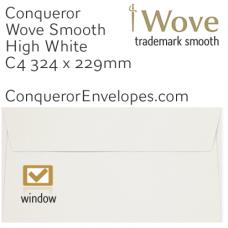 Wove High White C4-324x229mm Window Envelopes