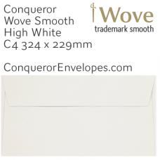 Wove High White C4-324x229mm Envelopes