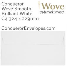 Wove Brilliant White C4-324x229mm Pocket Envelopes