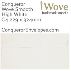Wove High White C4-324x229mm Pocket Envelopes