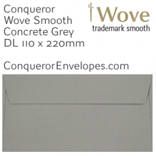 Wove Concrete Grey DL-110x220mm Envelopes