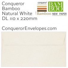 Bamboo Natural White DL-110x220mm Envelopes