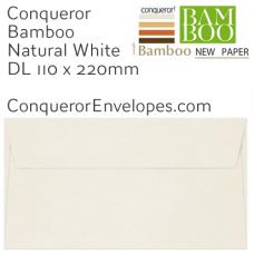 Bamboo Natural White DL-110x220mm Envelopes