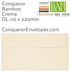 Bamboo Crema DL-110x220mm Envelopes