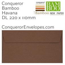 Bamboo Havana DL-220x110mm Envelopes