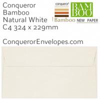 Bamboo Natural White C4-324x229mm Envelopes