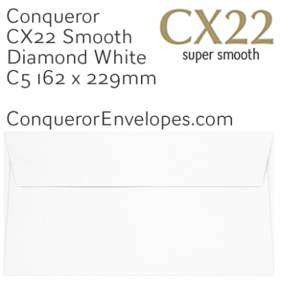 CX22 Diamond White C5-162x229mm Envelopes