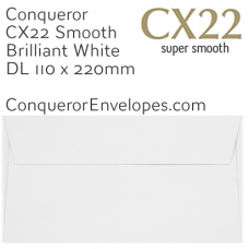 CX22 Brilliant White DL-110x220mm Envelopes