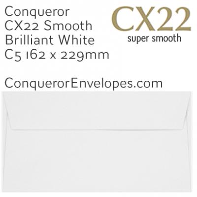 CX22 Brilliant White C5-162x229mm Envelopes