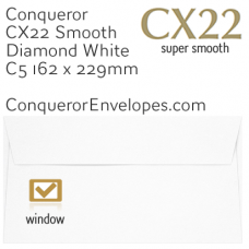 CX22 Diamond White C5-162x229mm Window Envelopes