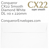 CX22 Diamond White DL-110x220mm Envelopes