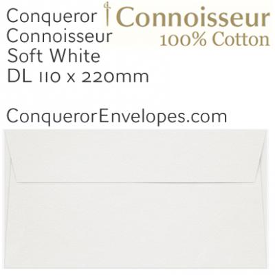 Connoisseur Soft White DL-110x220mm Envelopes