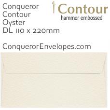 Contour Oyster DL-110x220mm Envelopes
